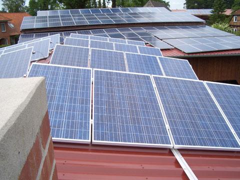 Photovoltaik Dachinstallation
